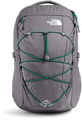 The North Face Borealis Laptop Backpack - Bookbag for Work, School, or Travel, Zinc Grey Dark Heather/Evergreen, One Size