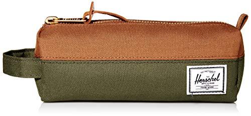 Herschel Settlement Case - Organizador de bolso de mano, color verde oscuro y marrón