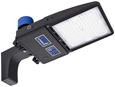 Hyperikon LED Parking Lot Lights, Shoebox Pole Street Light 100-277V, 5700K, Photocell, DLC, ETL, 100 Watts