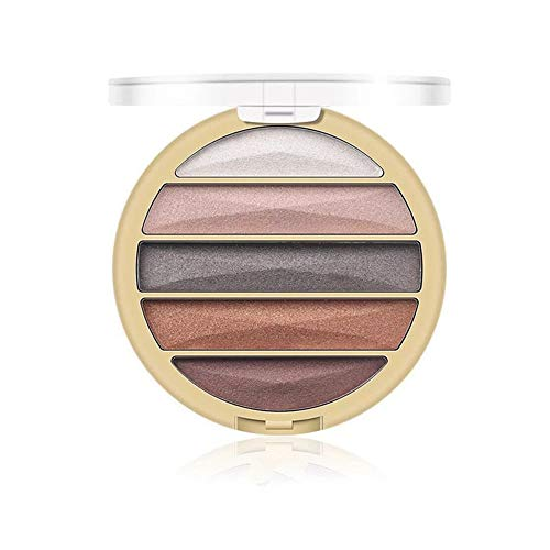 Disco de sombra de ojos de 5 colores impermeable perlado mate híbrido MINI bandeja de sombra de ojos sombra de ojos perezosa (01)
