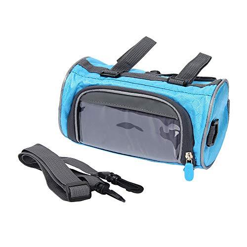 Bolsa para Manillar de Bicicleta, Pantalla Táctil para Bicicleta de Montaña Bolsa Impermeable para Manillar Frontal, Accesorios de Ciclismo Bolsa de para Marco Delantero de Bicicleta (Blue)