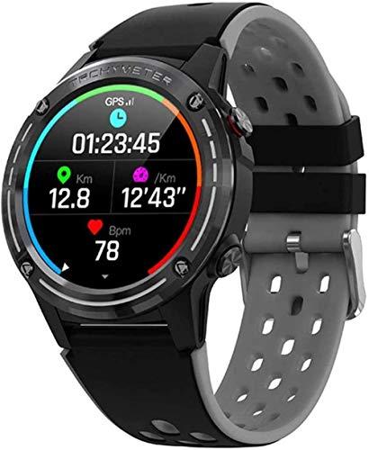 Reloj inteligente brújula función de altitud inteligente Bluetooth llamada GPS reloj deportivo para Android e iOS clásico verde Upscale/Negro-Negro