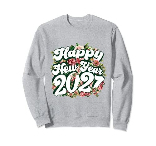 Feliz Año Nuevo 2021 Año Nuevo Familia a juego Floral Sudadera