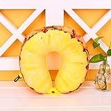 Almohada de viaje de espuma de memoria de fruta en forma de U...