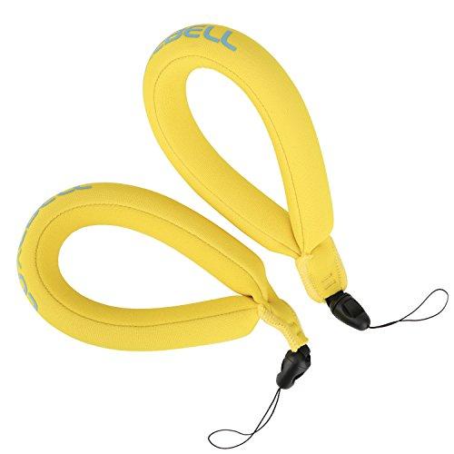 Luxebell® Waterdichte Camera Drijvende Polsband voor Uw Onderwater Camera Compatibel met Gopro, VTech Kidizoom Action Cam, Marine Verrekijker, Camcorders en Telefoons (Pack van 2), 2 Pack/yellow
