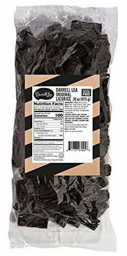 Darrell Lea Black Soft Australian Made Licorice 1.925 lb Bulk Bag - NON-GMO, Palm Oil Free, NO HFCS, Vegetarian & Kosher - America's #1 Soft Eating Licorice Brand!