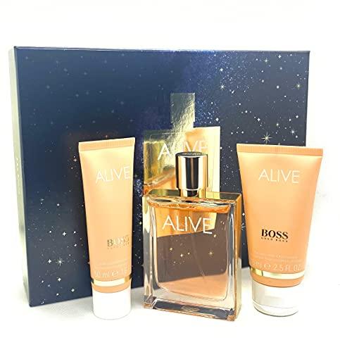Hugo boss alive eau parfum 80ml + lech corporal 75ml + el ducha 50ml