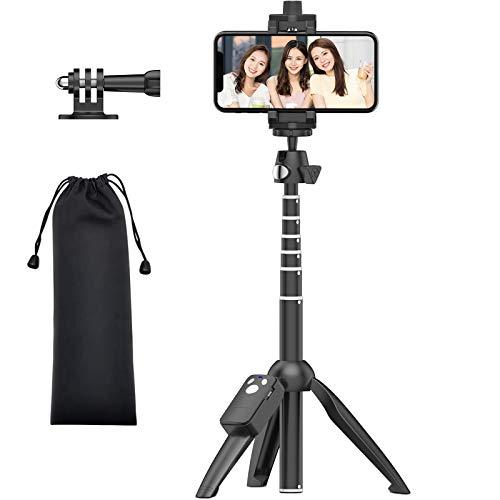 XXZU 自撮り棒 ミニ三脚 セルカ棒 アクションカメラ gopro三脚 スマホ 三脚 スタンド 7段階伸縮 ビデオカメラ ボール雲台 360°回転 iPhone Android Gopro hero7 hero6 hero5 muson など サポート