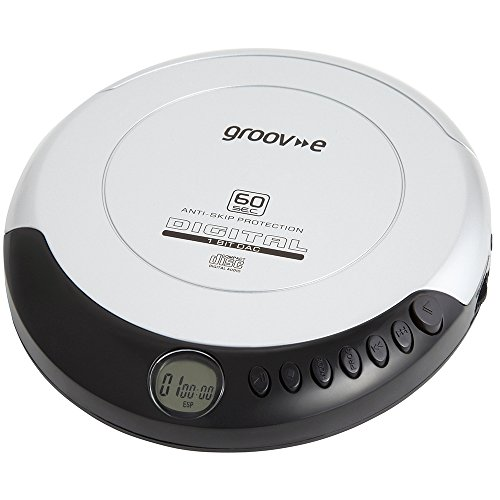 Groov-e GVPS110SR Retro Series Personal CD Player - Silver