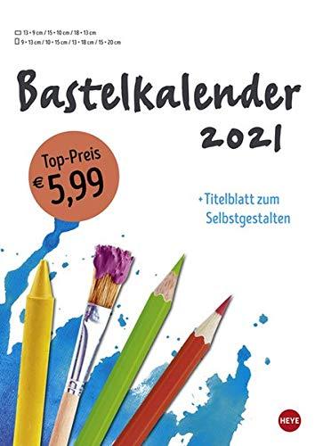 Bastelkalender 2021 weiß A4 - mit Titelblatt zum Selbstgestalten und Monatskalendarium - Format 21 X 29,7 cm