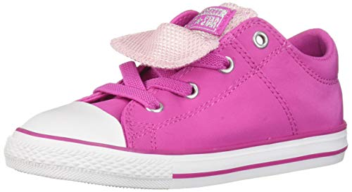 Converse Girls Infants' Chuck Taylor All Star Maddie Metallic Slip On Sneaker, Active Fuschia/Pink Foam/White, 4 M US Toddler