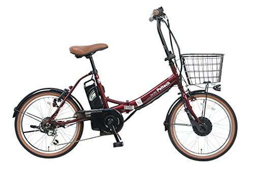 PELTECH(ペルテック) 折り畳み電動アシスト自転車 20インチ折り畳み外装6段変速 【簡易組立必要品】(TDN-206) ペルテック(Peltech) (ワインレッド)