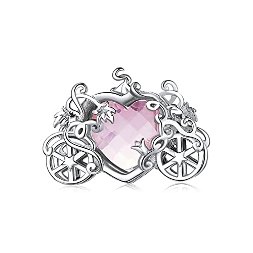Braccialetti Shining Magic Carroge 925 Sterling Sterling Silver Heart Glass Crystal Charm Fit Bracciale Bracciale Bracciale Dare Regali