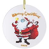 2020 Christmas Ornaments, YARKOR Quarantine Christmas Ornament 2020, Funny Christmas Ornaments, Merry Christmas Ornaments Gift