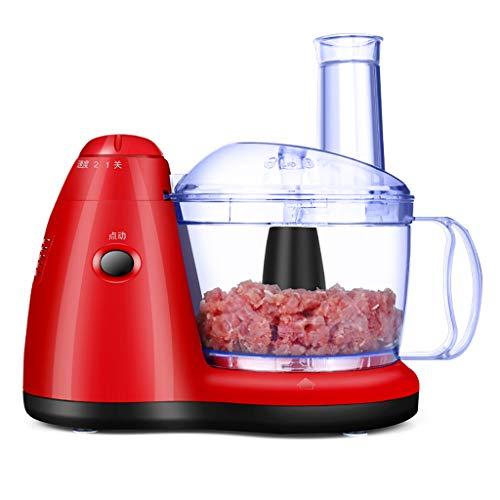 A Mélangeur de Cuisine Multi-électrique pour Robot culinaire, Hachoir à déchiqueteuse, râpe trancheuse à 2 Vitesses et contrôle du pouls pour Viande, légumes, Fruits
