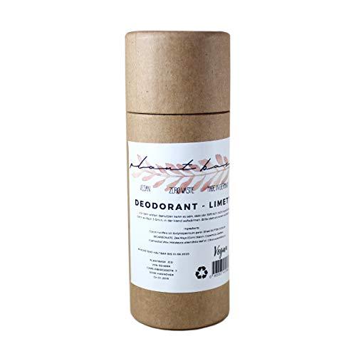 Zero Waste Deodorant Stift Kokos & Limette, 100% Vegan, Naturkosmetik, 24h Schutz & Pflege, Hygienisch & einfach anzuwenden, Handmade in Germany, Papp-Verpackung (Natur)