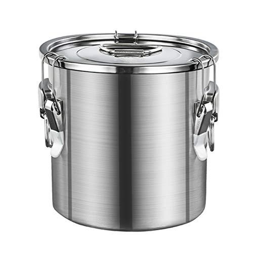 LUYJKL 304 Juguete de batería de Acero Inoxidable de Acero Inoxidable de Grado alimenticio, con Tapa sellada de Trabajo Pesado, Jarra de Crema novedosa para el Servicio de café de té -X (Size : 75L)