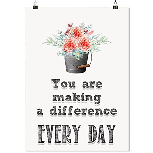 Y-55 Making A Difference Room postersposter printbathroom Wall decorcanvases for paintinghome decorcanvas Wall artUnframe-style1 08×12inch(20×30cm)