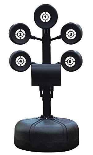 Sport-Thieme Boxstand Boxtrainer   6 einstellbare Pads, 130-187 cm Höhenverstellbar, Stabiler Standfuß   Für Boxtraining, Pratzentraining, Kampfsport   Füllgewicht 140 kg