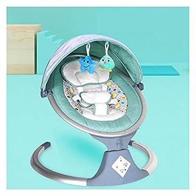 VIVIANSHOP Coaxial Arte artefacto bebé eléctrico Mecedora Silla bebé Cuna Silla Bluetooth Mecedora Cama Cama recién Nacido Comodidad Silla Green-B