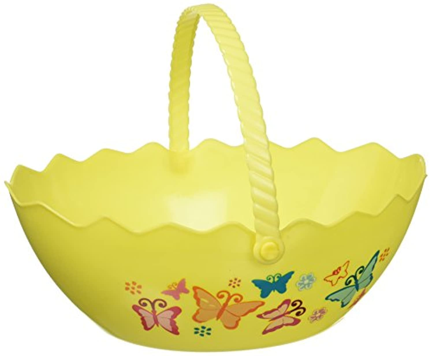 Kole Imports HX126 Egg Shape Printed Easter Basket Multicolor