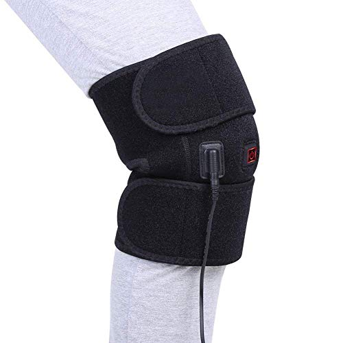 DOACT Heat Knee Brace for Hot or Cold Therapy, USB Heating Knee Pad Wrap for Arthritis Pain Relief, Joint Warmer, Cramps, Muscles Stiff and Strains, Fits Men and Women Knee Calf Leg Arm Area