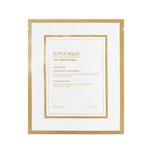 Missha super aqua cell renew snail hydro gel mask