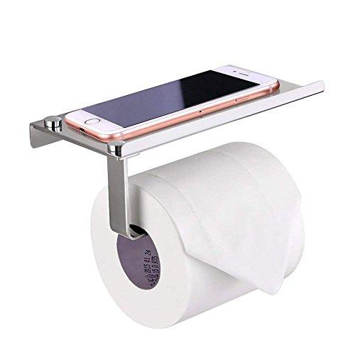 Porte-Papier en Inox de Salle de Bain Support de Rouleau de Serviette Toilette