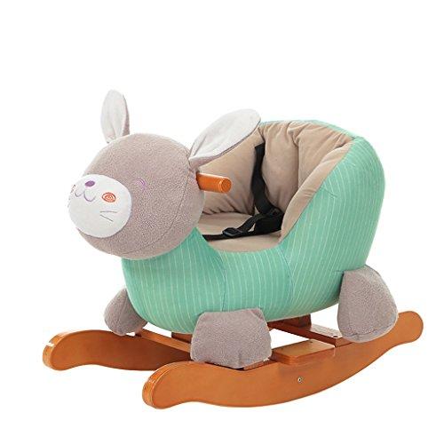 Cheval à bascule simple Assemblée solide bois chaise berçante de 1-5 ans bébé enfant jouet cadeau -LI JING SHOP