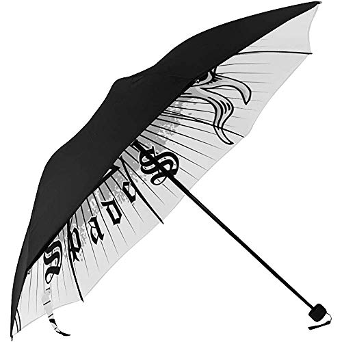 Patio Umbrella Das Skelett von Spade Trump In Poker Unterseite Tragbarer Regenschirm Sun Table Umbrella Umbrella Windproof Travel ady