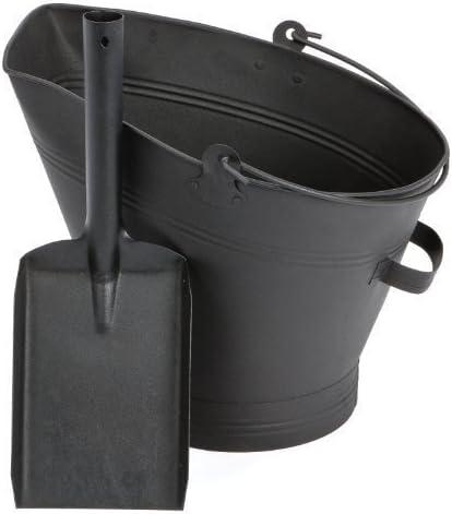 Fireplace Waterloo Style Black Coal Scuttle Bucket Hod with Shovel (Waterloo Style Coal Bucket & Shovel)