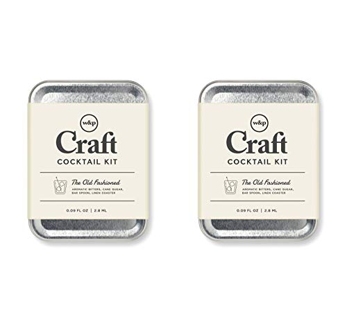 W&P Craft Cocktail Kit, Old Fashioned, Portable Kit for Drinks on the Go, Carry On Cocktail Kit, Pack of 2