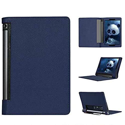 Asng Lenovo Yoga Tab 3 Plus/Yoga Tab 3 Pro 10 Case - Slim Folding Cover with Auto Wake/Sleep Compatible with Lenovo Yoga Tab 3 Plus YT3-X703F / Yoga Tab 3 Pro YT3-X90F 10.1-Inch Tablet (Drak Blue)