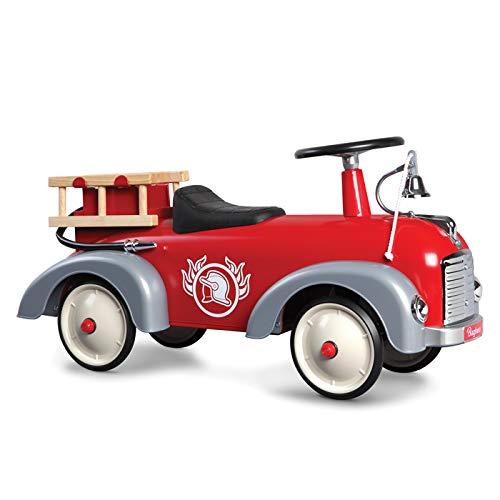 Baghera 838 - Speedster camion dei pompieri vintage cavalcabile per bambini da 1 anno d'età