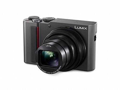 Panasonic LUMIX DC-TZ202EG-S Travelzoom Kamera (1-Zoll Sensor, 15x Opt. Zoom, Leica Objektiv, Sucher, 4K, Silber) & Akku DMW-BLG10 für Lumix DMC-GX7