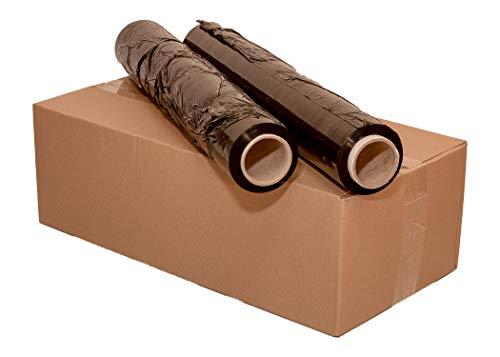 1 Rolle Stretchfolie 250 m x 500 mm Palettenfolie Verpackungsfolie 23 my 1,5 kg Schwarz