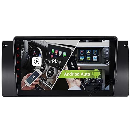 Android 10.0 Carplay + Android Auto 2G + 32GB Dual Tuner Auto Radio Bluetooth 5.0 Rohm-DSP GPS para BMW Serie 5 E39 E38 X5 E53 530 740 DAB+ WiFi 4G-LTE USB SD Subwoofer AV-Out