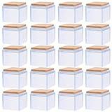 Hemoton Tappi per Gambe in Silicone, 20 Pezzi Sedia Gamba Tappi Piedi pastiglie Protezioni per Gambe Protezione Pavimento per Gambe dei Mobili Tavoli Sedie