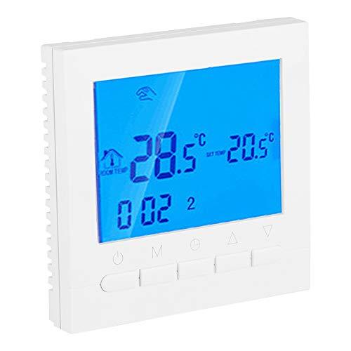 Digital Programmble Thermostat, WiFi LCD Intelligente Heizungsregelung für Privathaushalte, Winter-Funk-Temperaturregler mit Zeitanzeige, automatischer Kalibrierung und Frostschutzfunktion