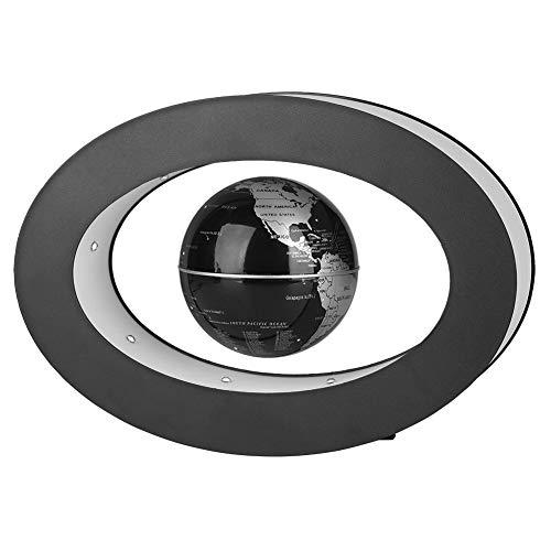 Fdit Globus Magnetisch Magnetschwebebahn Floating Globe Neuheit Electronic mit LED-Licht Home Office Display Geschenk Xmas Geburtstagsgeschenk(Silber)