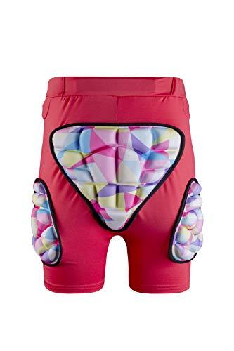 GOHINSTAR Kids Padded Shorts 3D Protection Hip Butt EVA Protective Compression Shorts Pants for Snowboard Skate Ski Biking Pink