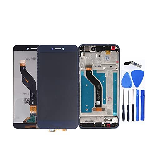 Newwiee Fit for Huawei Honor 8 Lite PRA-TL10 Pra LX1 LX3 Pantalla LCD Digitalizador de Pantalla táctil para Honor 8 Lite con Marco Toque la Pantalla del teléfono(Color:Black l with Frame)
