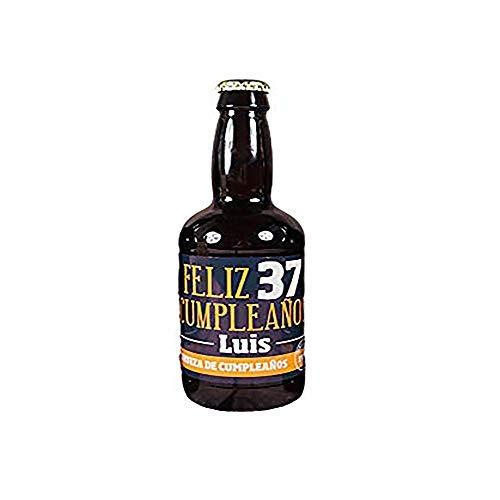 Regalo personalizado para cumpleaños: cerveza personalizada con edad, nombre, año y la dedicatoria que tú quieras
