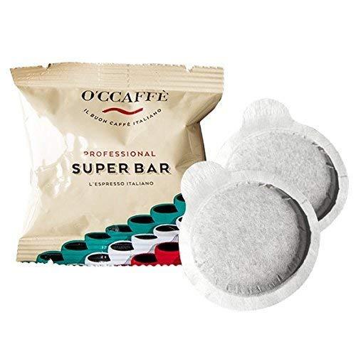 O'CCAFFÈ – Super Bar ESE 44 Cialde Kaffeepads | 150 Stück | Kaffee aus extra langsamer Trommelröstung aus italienischem Familienbetrieb