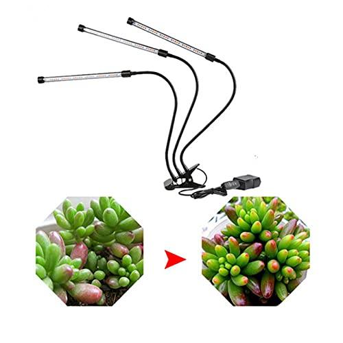 LED Wachsen Pflanzenlicht Vollspektrum Grow Lampe Pflanzenleuchte Verstellbarer Schwanenhals 3 Beleuchtungsmodi, 9 Helligkeitsstufen Mit Timer Für Gärten Pflanzen, Topfpflanzen