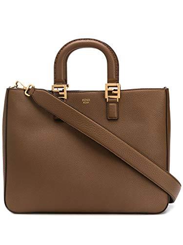 Fendi Luxury Fashion Donna 8BH368SFRF0L95 Marrone Pelle Borsa A Mano | Primavera-estate 20