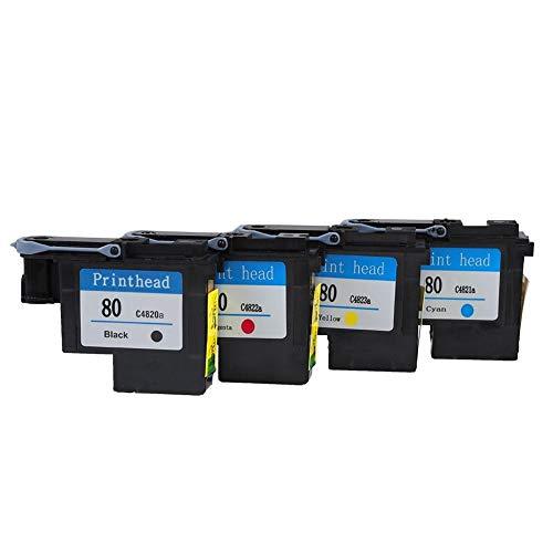 Printhead Delaman printkop Handige printkop Compatibel met HP 80 Designjet 1000/1050 / 1055 serie (Maat: CMYK)