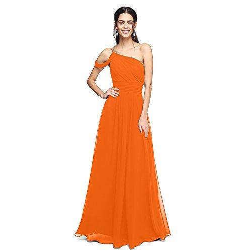 kekafu Eine Zeile tiefer Ausschnitt, länge tüll Hochzeit Kleid mit Muster von LAN TING Braut, Orange, US 10 / UK 14 / EU 40