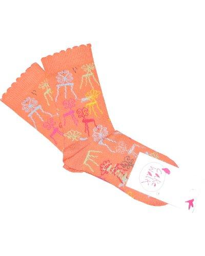 Cakewalk Socken ANJA peach-31-34 - Kindermode : Mädchen