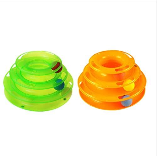 YSYDE de nieuwe drie lagen huisdier speelgoed intelligentie gek spelen lade kat spelen voel je vrij om de bal aan te passen de 3 ballen in de speelplaat kan vrij aangepast door huisdieren spelen meer gek